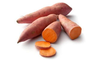 Sweet potatoes are another source of dietary fibre for your dog