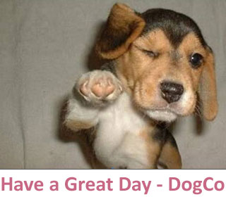 Have a great day from all at DogCo