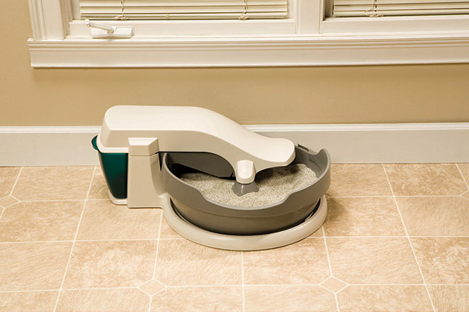 Automatic cat litter boxes